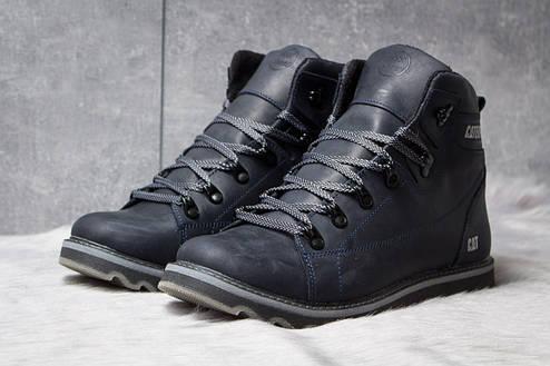 Зимние ботинки  на меху CAT Caterpilar, темно-синие (30754) размеры в наличии ► [  44 (последняя пара)  ], фото 2