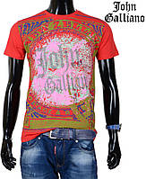 Модная летняя футболка  John Galliano,красная