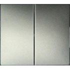 Valena Лицевая Панель 2-клавишного Выключателя Алюминий