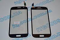 Тачскрин / сенсор (сенсорное стекло) для Samsung Galaxy Grand Duos i9082 (синий цвет, самоклейка)