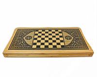 Нарды, шахматы набор настольных игр BAKU  (дерево, р-р доски 44см*44см)