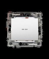 Galea Life Лицевая Панель  Выключателя\Переключателя с подсветкой\индикацией 1-клавишного;   белая