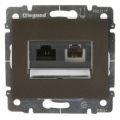 Galea Life Лицевая панель для розетки RJ45 (1 или 2 выхода) или RJ11 2 выхода, темная бронза Legrand