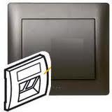 Galea Life Лицевая панель для розетки VDI кат.5е, темная бронза Legrand