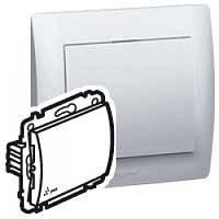 Galea Life Выключатель (без фиксации) влагозащитный (IP44) 10А, 250В ~ ; 1-клавишный, Белый