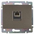 Galea Life Лицевая панель телефонной розетки RJ12, темная бронза Legrand
