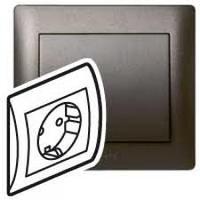 Galea Life Розетка 2К+З моноблок, темная бронза Legrand