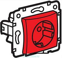 Galea Life Розетка 2К+З с блокировкой (16А, 250В~, автоматические клемы) с лицевой панелью Красный