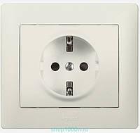 Galea Life Розетка 2К+З со шторками (16А, 250В~, автоматические клемы) с лицевой панелью белая