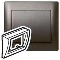Galea Life Лицевая панель для информационной розетки, темная бронза Legrand