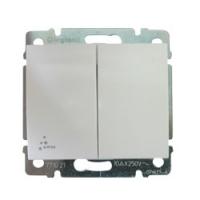 Galea Life Выключатель влагозащитный (IP44) 10АХ, 250В ~ ; 2-клавишный, Белый
