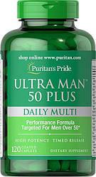 Вітаміни для чоловіків Puritan's Pride Ultra Man 50 daily Plus multi 120 caps