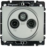 Galea Life Лицевая панель TV-RD-SAT, алюминий Legrand