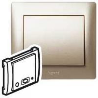 Galea Life Лицевая панель для механизма звуковой трансляции центральный блок+адаптер, титан Legrand