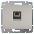Galea Life Лицевая панель телефонной розетки RJ12, алюминий Legrand