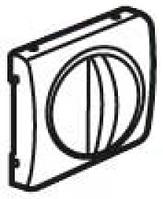 Лицевая панель механизма управления вентиляцией и выключателя с выдержкой времени, алюминий Legrand