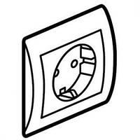Galea Life Розетка 2К+З (автоматические клемы)   с лицевой панелью и рамкой,   перламутр