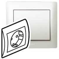 Galea Life Розетка 2К+З (винтовые клеммы) с лицевой панелью и рамкой,   перламутр