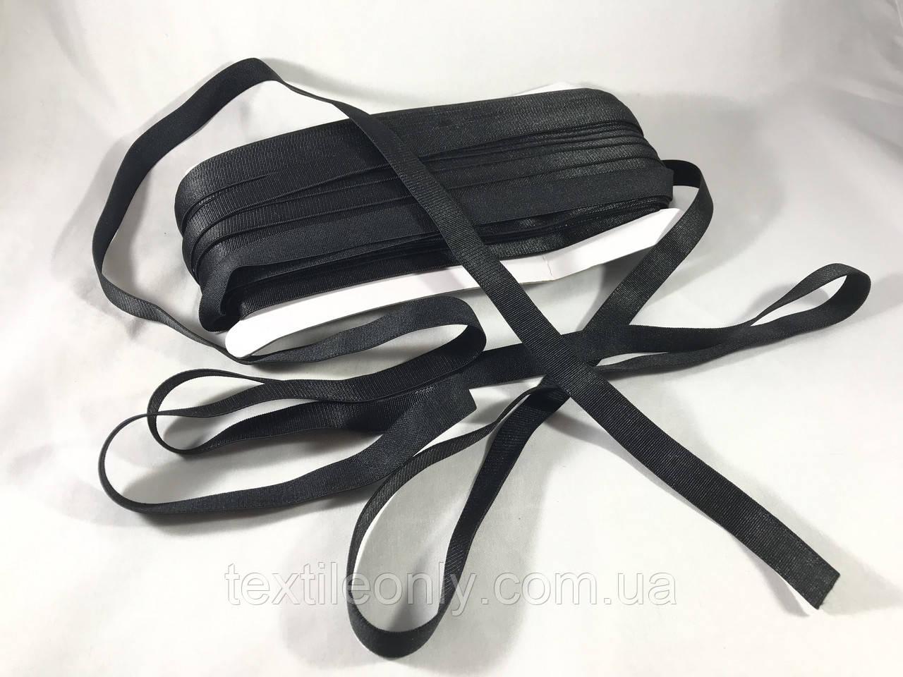 Резинка для бретелей цвет черный 15 мм