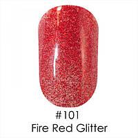 Гель-лак 101 Gel Polish 6 мл  NAOMI (красный насыщенные блестки)