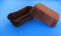 Тарталетки (капсулы) бумажные для кексов, капкейков Коричневые 80*35*30 мм