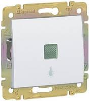Valena Выключатель без фиксации с символом лампи 10А Белый