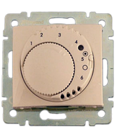 """Galea Life Термостат для """"теплої підлоги"""" с выключателем, індикатором (  кабель та датчик) з лиц.панелью Слоновая кость"""