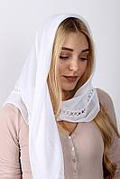 Праздничный белоснежный женский платок