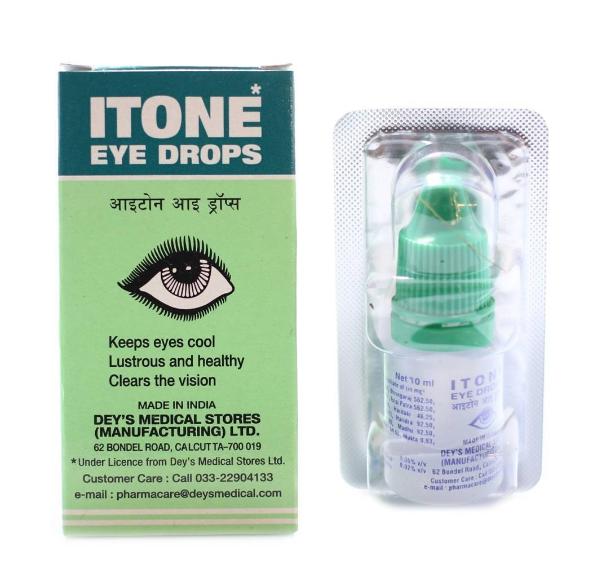 Глазные капли от усталости глаз Айтон, ITONE, DEYS, 10 мл-воспаление глаза капли