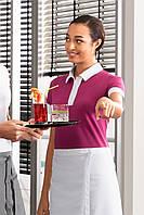Футболка поло женская с контрастной планкой, фото 1