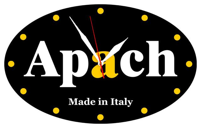 Изображение настенных часов с лого апач