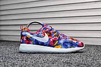 Кроссовки женские в стиле Nike Roshe Run код товара TD-8033. Цветочный принт