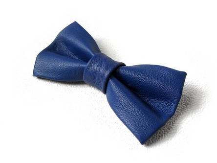 Кожаная галстук-бабочка 9903LBl, фото 2