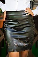 Модная женская узкая кожаная юбка