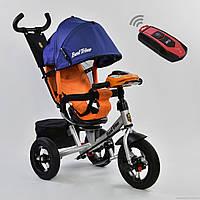 Трехколесный велосипед Best Trike 7700 В - 1280 Сине-оранжевый Гарантия качества Быстрая доставка