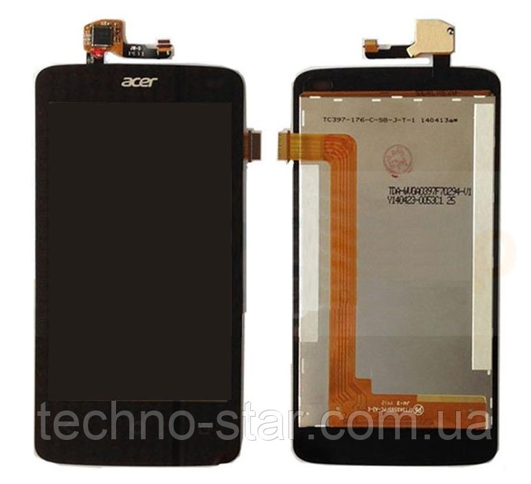 Оригинальный дисплей (модуль) + тачскрин (сенсор) для Acer Liquid Z4 Z160 (черный цвет)