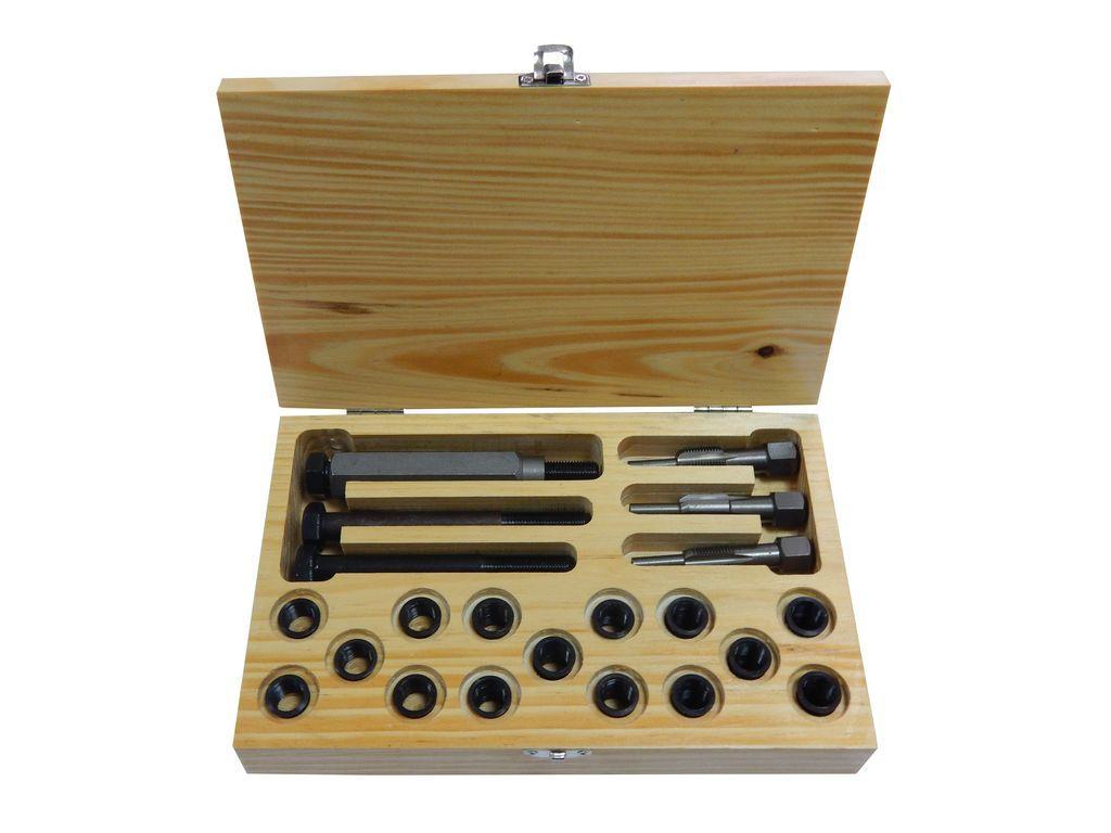 Набор футорок и метчиков для восстановления резьбы свечей накаливания, 21пр. (M12x1.25-15шт), PA-1012-125 PARTNER