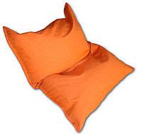 Оранжевое кресло мешок подушка 120*140 см из микро-рогожки, кресло-мат, фото 1