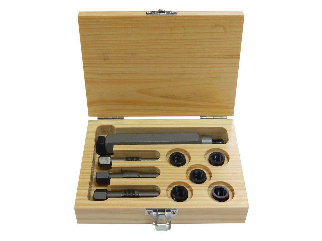 Набор футорок и метчиков для восстановления резьбы свечей накаливания, 9пр. (M9x1.0-5шт), PA-1009-1 PARTNER