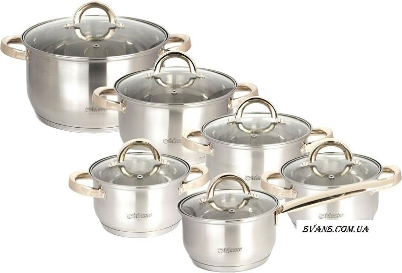 Набор посуды 12 пр. Maestro MR 2106