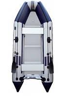 Надувная лодка Колибри КМ-360Д бело-синяя
