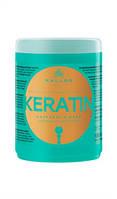 Маска для волосся c кератином 1000мл Keratin Hajpakolas Packshot Kallos KJMN