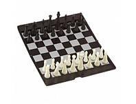 Шахматы настольная дорожная игра  (пластик, фигуры на магнитах, р-р доски 19см*19см)