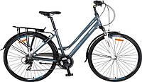 """Городской велосипед для девушек Crosser City Life Lady 28"""" Серый"""