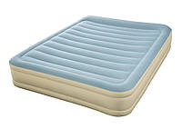 Двухспальная надувная флокированная кровать Bestway 69007 со встроенным насосом 220 V (203*152*36 см)