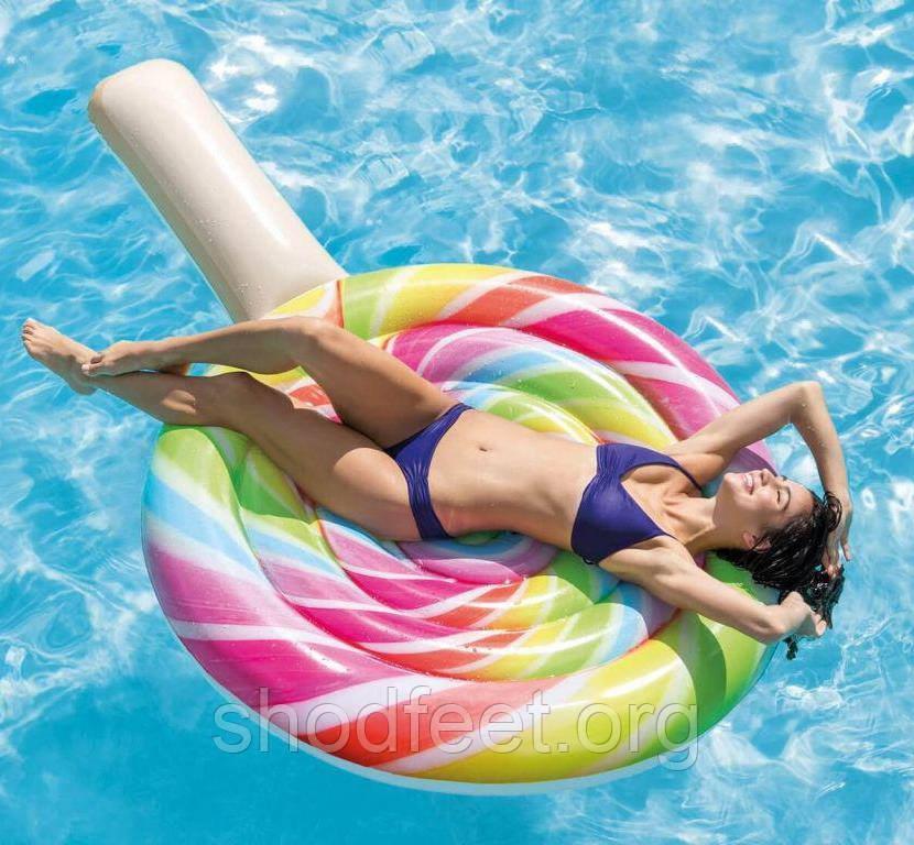 Надувной пляжный матрас INTEX 58753 Lollipop Леденец