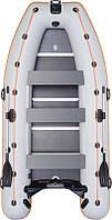 Надувная лодка Колибри КМ-400Д бело-синяя