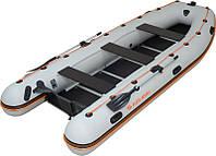 Надувная лодка Колибри КМ-450Д бело-желтая
