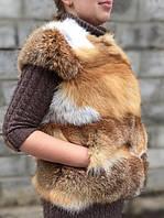 Жилет жіночий з хутра рудої лисиці., фото 1