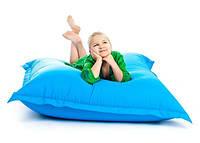 Голубое кресло мешок подушка 120*140 см из микро-рогожки, кресло-мат